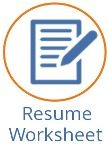 Career Resources Resume Worksheet